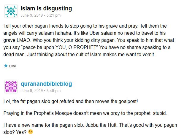 Embarrassing a minion of Christian prince(ss) on Muslims