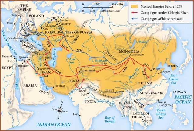 Mongols map